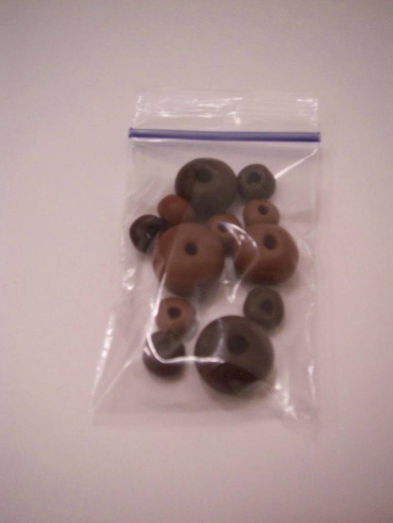 Dark Chocolate Caramel Spacers by KimsButterflyGarden