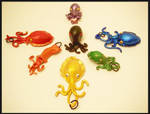 Rainbow Cepahlopod  Pendants