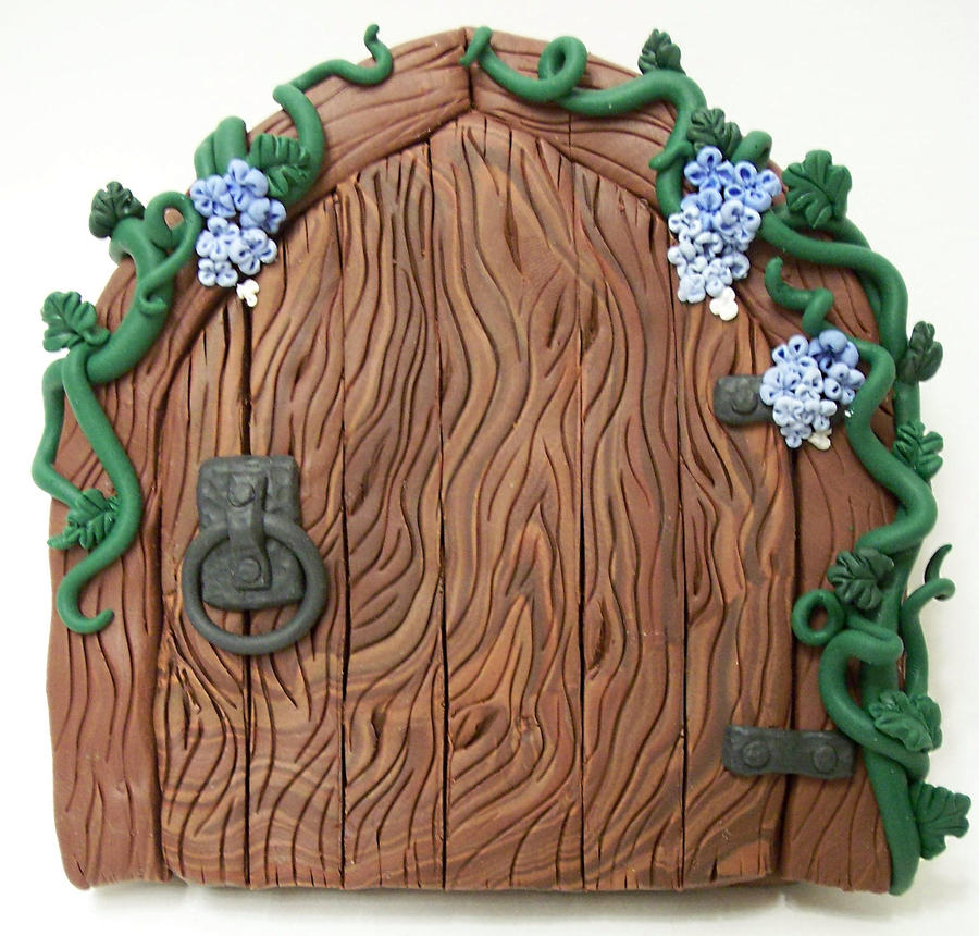 Trailing Blues Wood Fairy Door by KimsButterflyGarden ... & Trailing Blues Wood Fairy Door by KimsButterflyGarden on DeviantArt