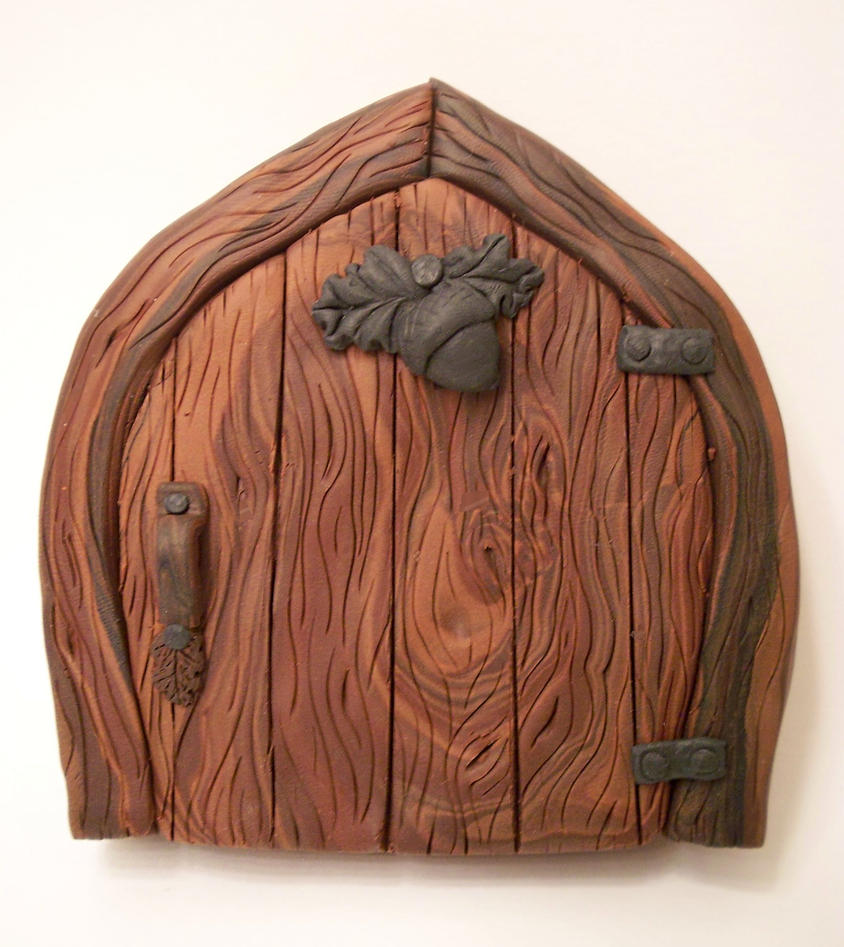 Oak and Acorn Fairy Door by KimsButterflyGarden