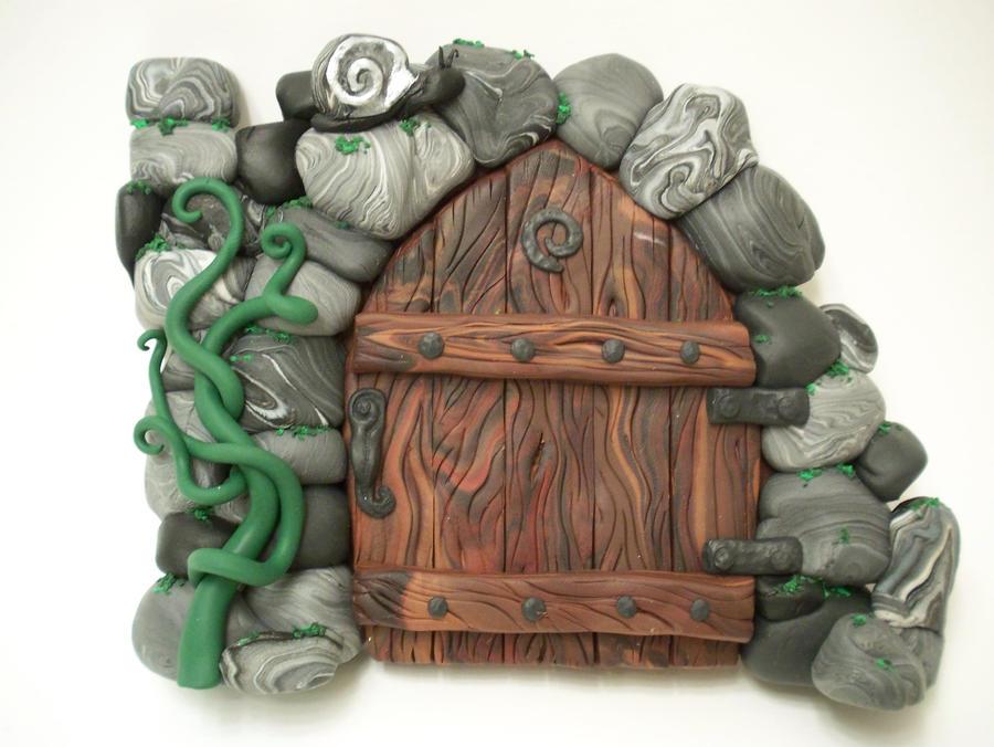 Ruined Spiral Castle Fairydoor By Kimsbutterflygarden On