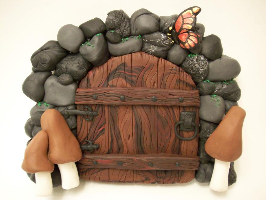 """Monarch"" and Mushrooms Door by KimsButterflyGarden"