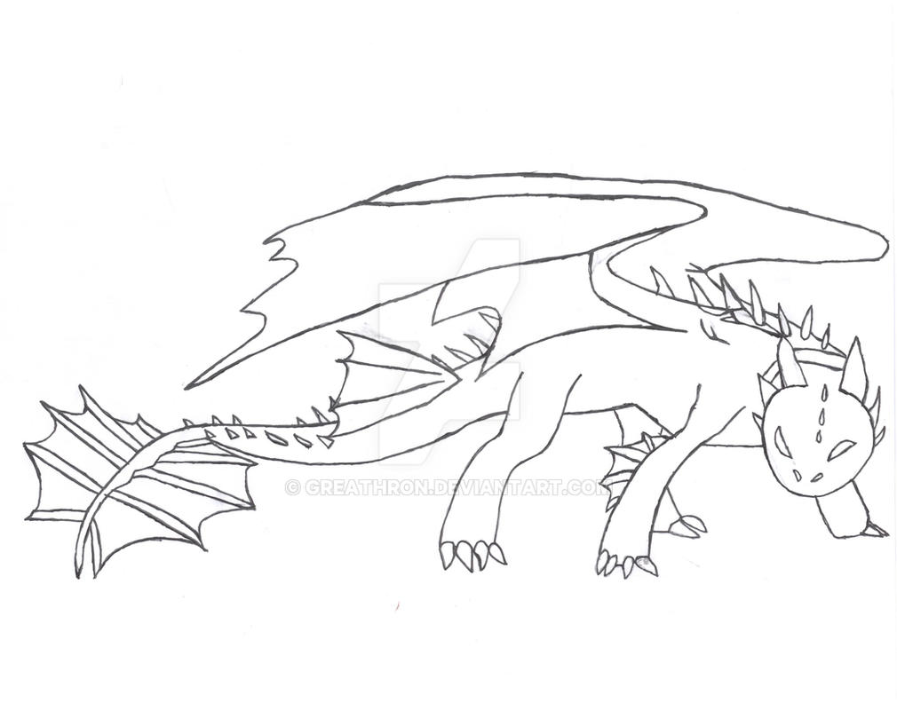 Night Fury Drawing All Free Hand By Greathron On Deviantart