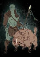 Half Orc Druid by turnipheadart