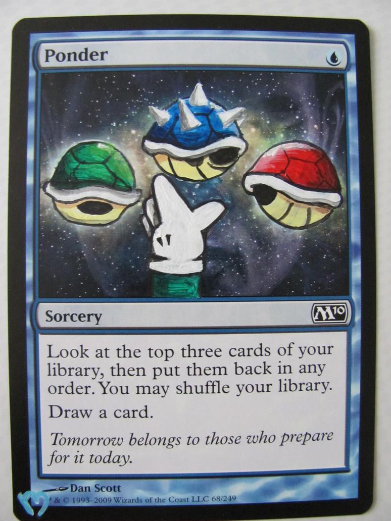 Mtg alter: Luigi Ponder by OhMaiAlters
