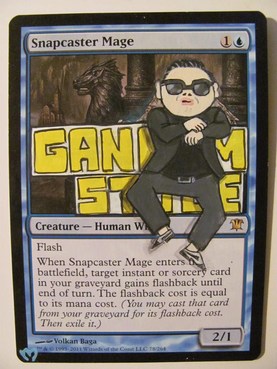 Gangnam Style Snapcaster Mage by OhMaiAlters