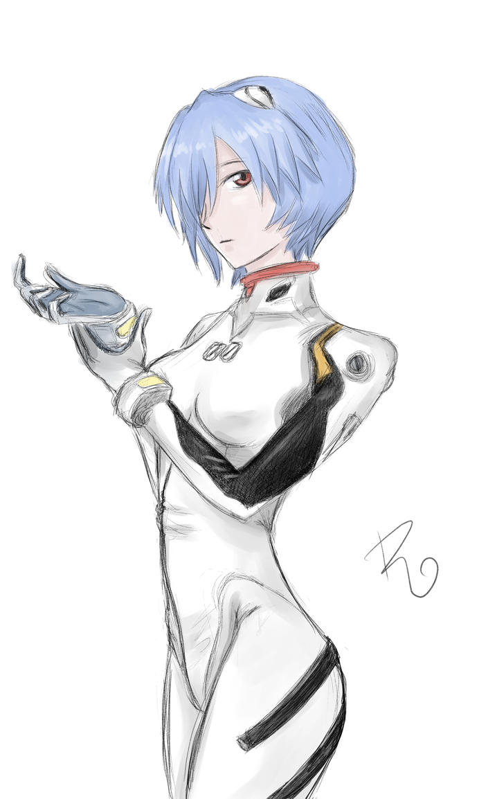 Rei Ayanami sketch by robepate