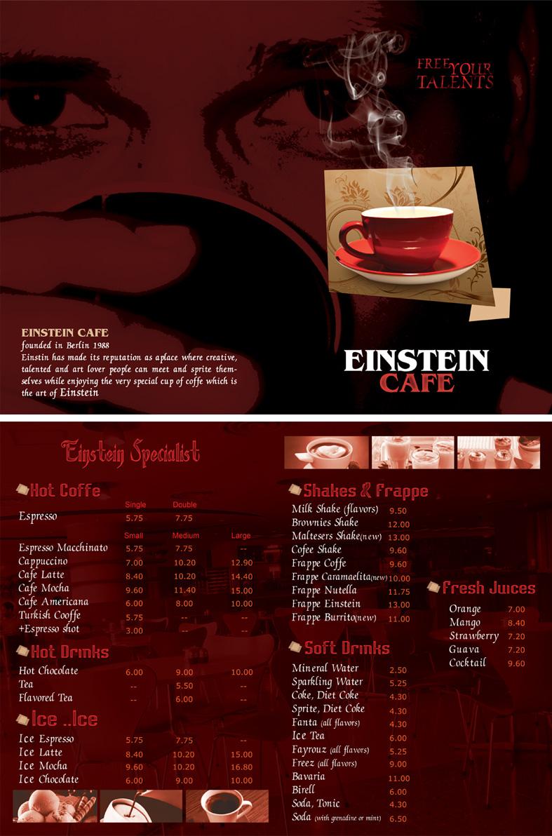 Einstein CAfe MenU 2 by high-sense