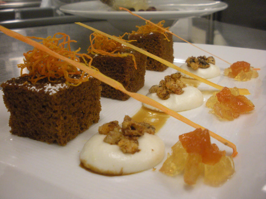 Culinary Carrot Cake With Raisen Soaked In Raison