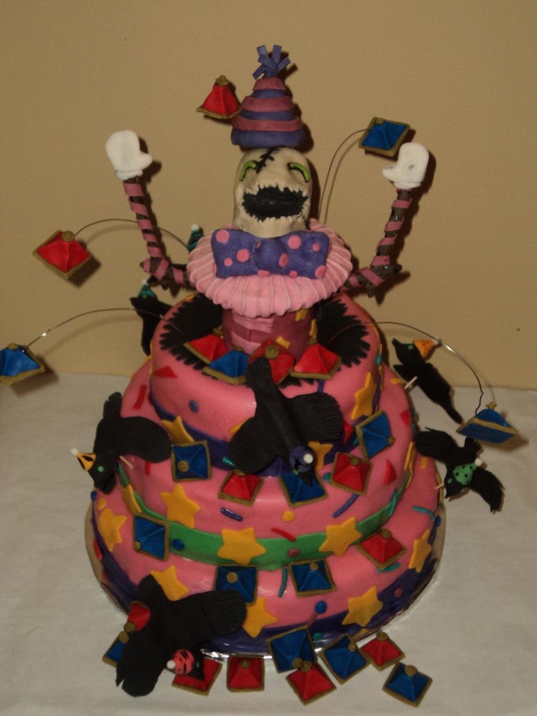 Surprise Party Fiddlesticks Cake by KarenzaFritters