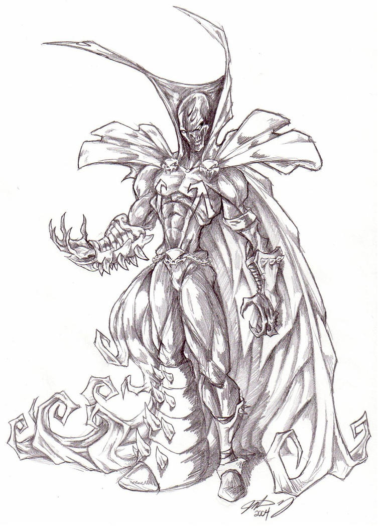 Spawn face drawing