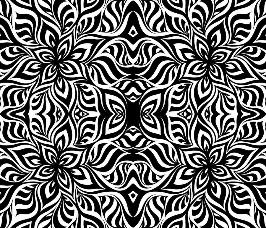 Zebra Flowers Fractal by KirstenStar on DeviantArt