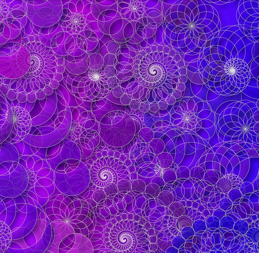 Blue and Purple Mandalas by KirstenStar