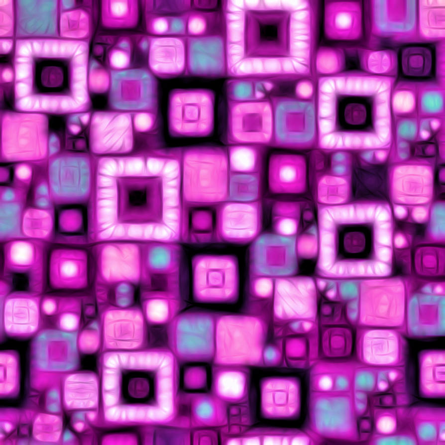 Purple Squares Quilt by KirstenStar