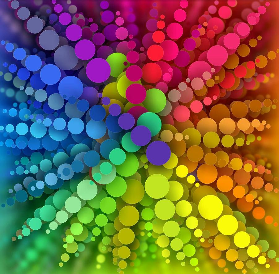 Rainbow Spots Radiating by KirstenStar