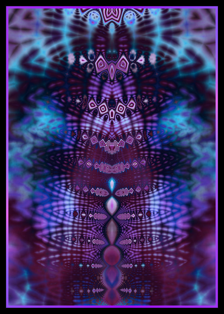 Luscious Blue and Purple Tie Dye Fractal by KirstenStar