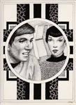 Chekov and Romulan Officer by Teegar