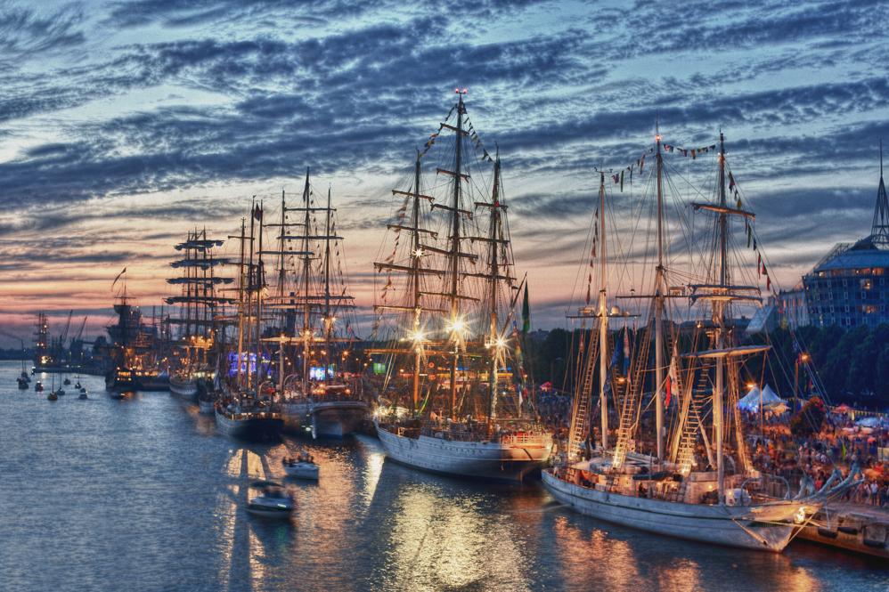 Tall ships in Riga by Fanfnirr