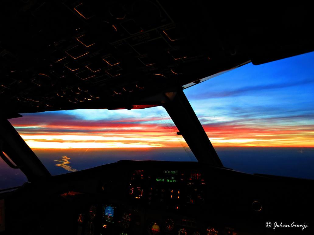 Office sunrise by skylark1983