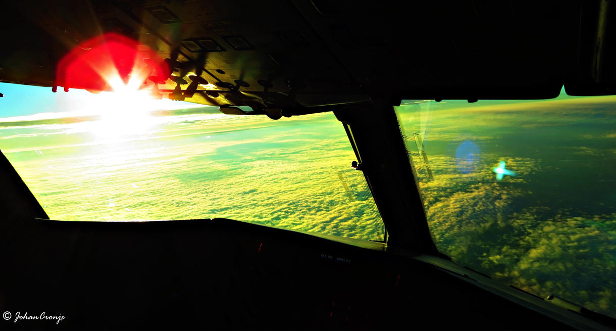 Morning coffee and sunrise from the cockpit by skylark1983