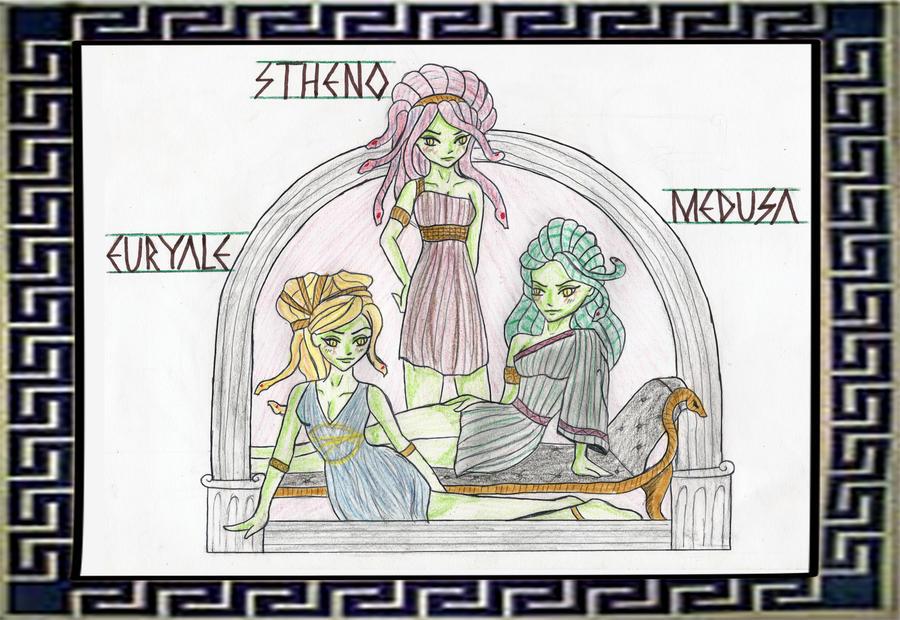 Euryale Greek Mythology Gorgon Sisters Picture...