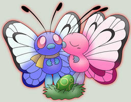 Butterfree Family Picture by Pokemon-Lanino