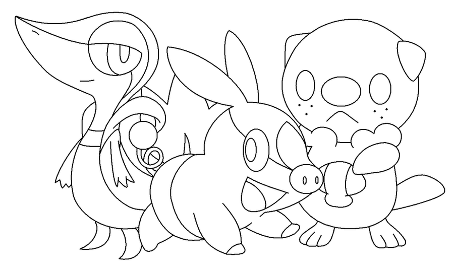 All pokemon starters coloring pages sketch coloring page for All pokemon coloring pages