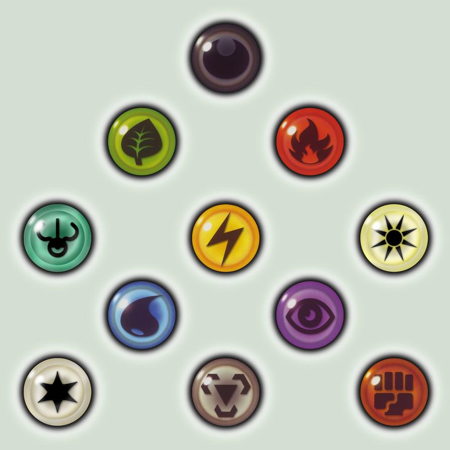 Ground Symbol Pokemon Card Energy Icons by Pokemon-