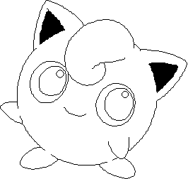 jigglypuff outline by ivysaur98 on deviantart
