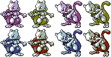 Mewtwo GS: Original and Recoloured by Ivysaur98