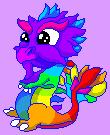 Baby Rainbow Dragon - DragonVale Dragon by Ivysaur98