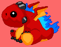 Baby Frostfire Dragon - DragonVale Dragon by Ivysaur98