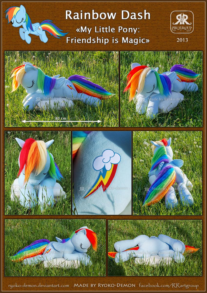 Rainbow Dash plushie by Ryoko-demon