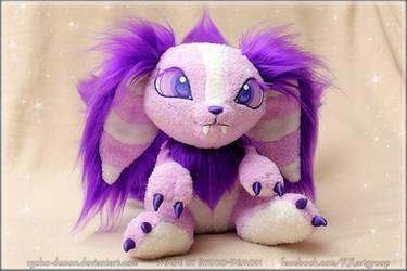 Space purple fox (plushie) by Ryoko-demon