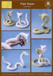 Pipe foxes plushie by Ryoko-demon