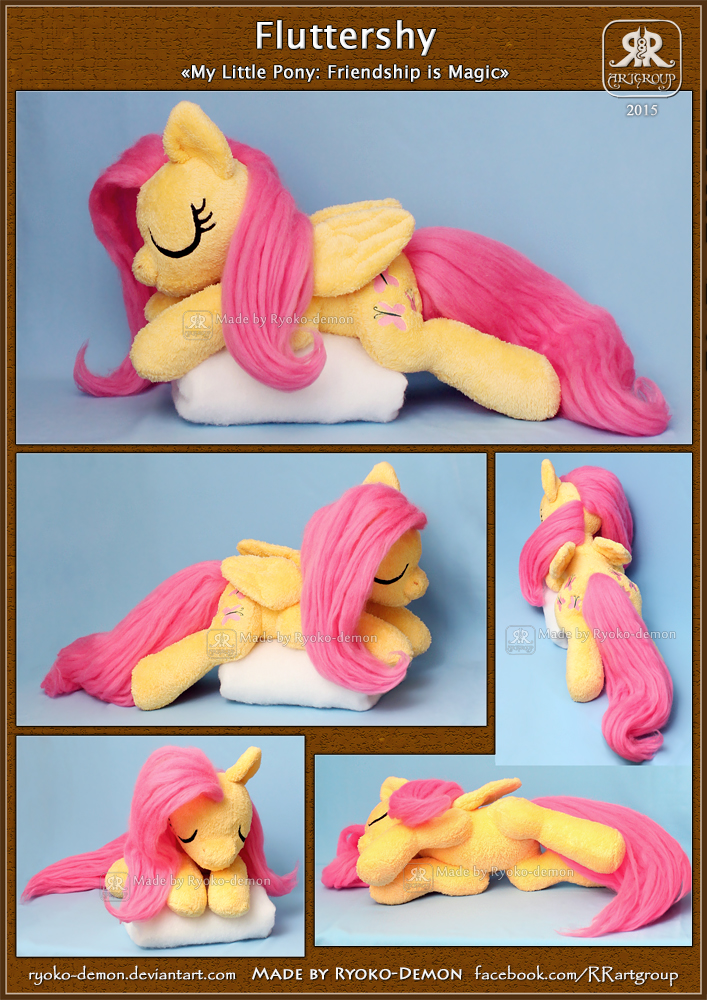 Sleeping Fluttershy plushie