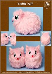 Fluffle puff plushie by Ryoko-demon