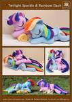 Sleeping Twilight Sparkle and Rainbow Dash