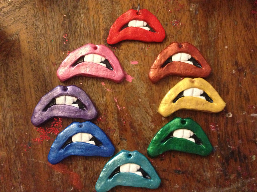 rainbow painted lips by - photo #23