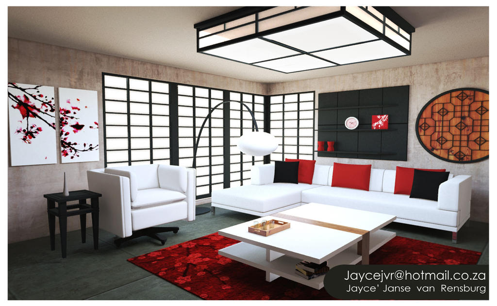 Modern asian living room by jaycejvr1992 on deviantart for Oriental furniture living room