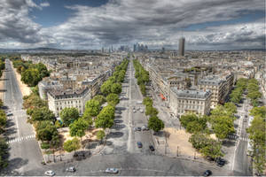 Arc de Triomphe - Top View 02 by GiardQatar