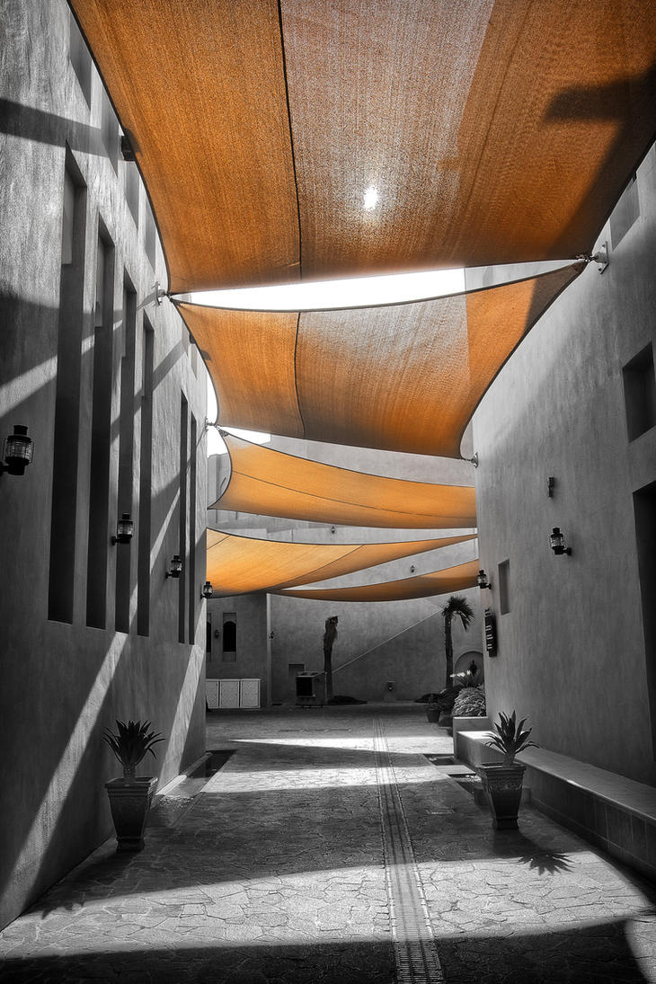 Qatar - Katara Cultural Village 04 - Shaded Area by GiardQatar