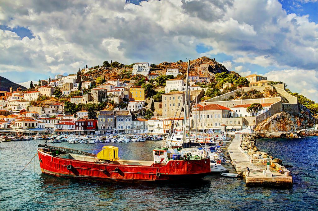 Greece - Hydra - Hydra Port 01 by GiardQatar