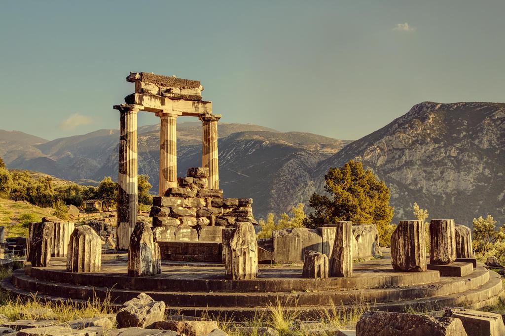 Greece - Delphi - Tholos - 01A (Color) by GiardQatar