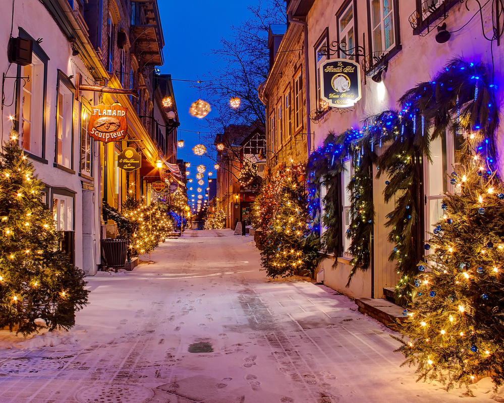 Quebec City - Petit Champlain - Christmas - 03 by GiardQatar