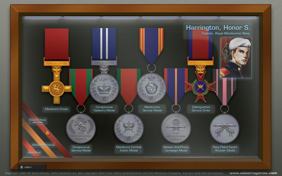 Honor harrington 39 s medal case by thomasthecat on deviantart for Harrington craft show 2017