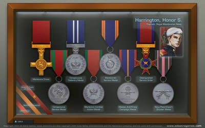 Honor Harrington's Medal Case