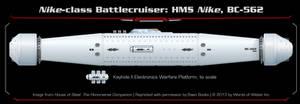House of Steel - Nike Class Battlecruiser by thomasthecat