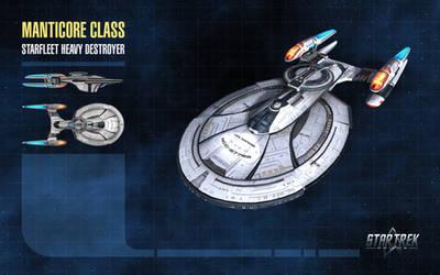 Manticore Class Starship for Star Trek Online by thomasthecat