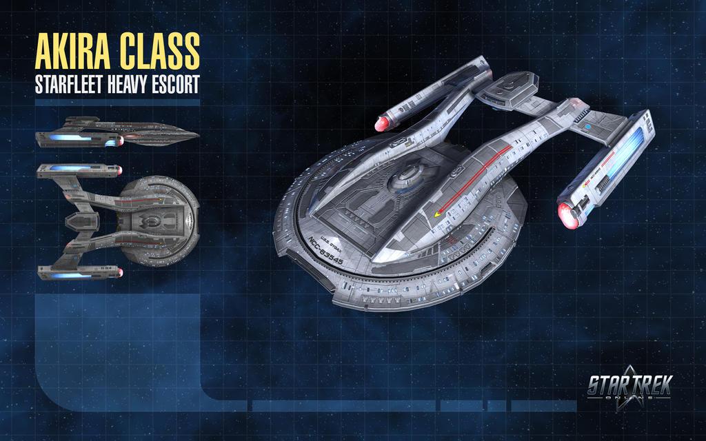 Akira Class Starship for Star Trek Online by thomasthecat